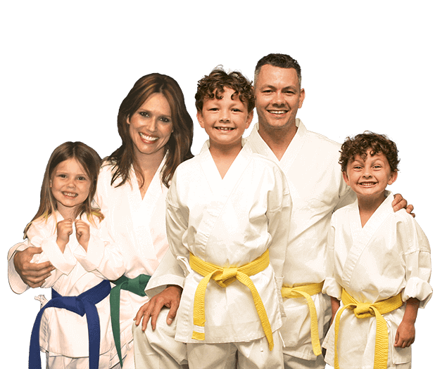 Martial Arts Lessons for Families in Woburn MA - Group Family for Martial Arts Footer Banner