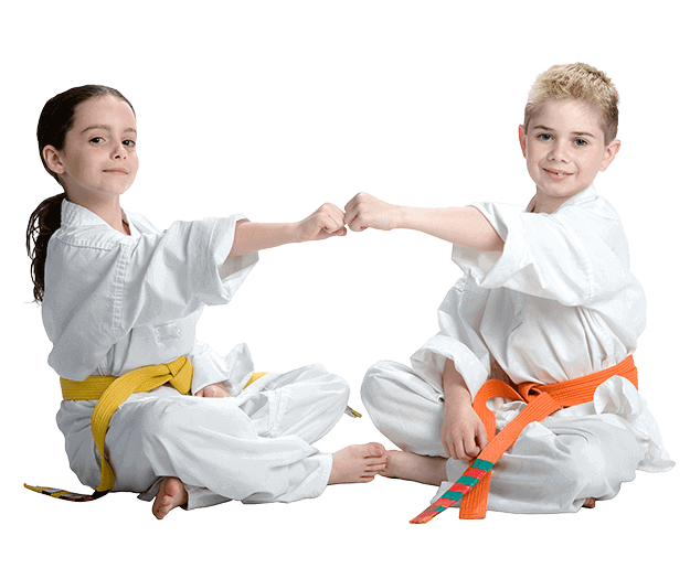 Martial Arts Lessons for Kids in Woburn MA - Kids Greeting Happy Footer Banner