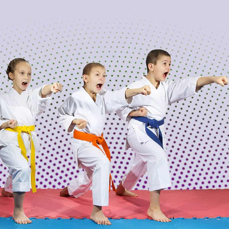 Martial Arts Lessons for Kids in Woburn MA - Punching Focus Kids Sync