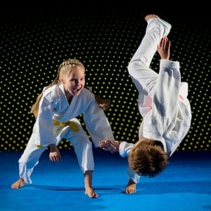 Martial Arts Lessons for Kids in Woburn MA - Judo Toss Kids Girl