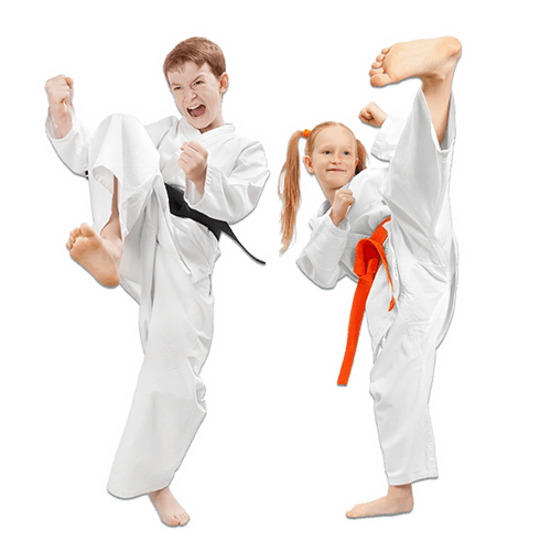 Martial Arts Lessons for Kids in Woburn MA - Kicks High Kicking Together