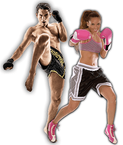 Fitness Kickboxing Lessons for Adults in Woburn MA - Kickboxing Men and Women Banner Page