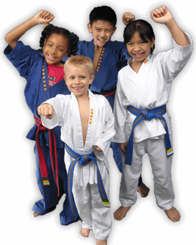 Martial Arts Summer Camp for Kids in Woburn MA - Happy Group of Kids Banner Summer Camp Page